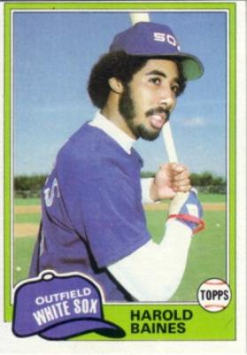 Harold Baines 1981 Topps Rookie Card #347