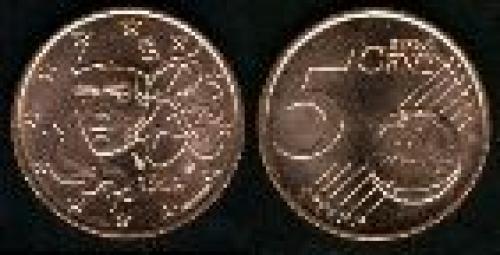 5 cents; Year: 1999-2007; (km 1284); Acero cubierto de cobre