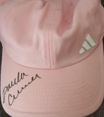 Paula Creamer autographed pink Adidas golf cap or hat