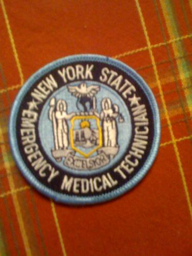 New York State EMT patch