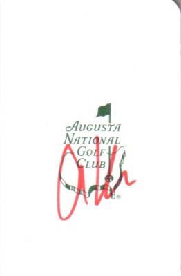 Anthony Kim autographed Augusta National Masters scorecard