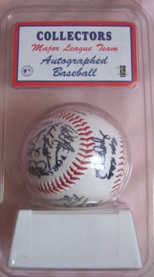 2003 San Diego Padres team facsimile autographed baseball