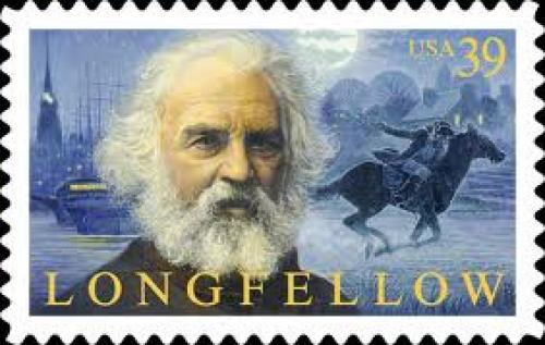 Stamps; Henry Wadsworth Longfellow - USA Postage stamp