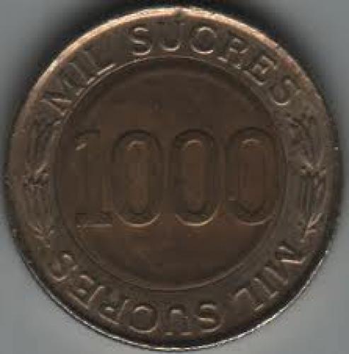 Coins; Ecuador 1000 Sucre 1997