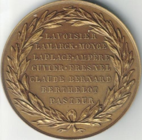 MEDAL OF THE SOCIETE PHILOMATHIQUE DE PARIS