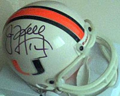 Jim Kelly autographed Miami Hurricanes mini helmet