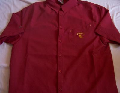 USC Nike Dri-Fit cardinal red button down shirt