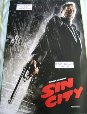 Sin City mini movie poster (Bruce Willis as Hartigan)