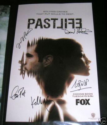 Past Life cast autographed 11x17 mini poster (Nicholas Bishop Kelli Giddish Ravi Patel)