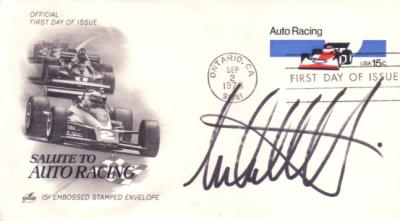 Michael Andretti autographed Auto Racing First Day Cover cachet
