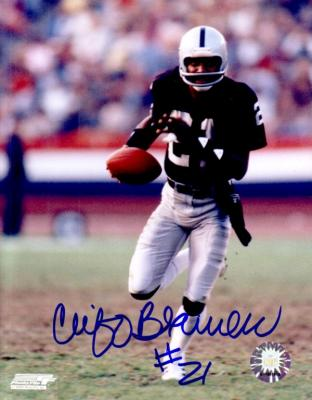 Cliff Branch autographed 8x10 Oakland Raiders photo