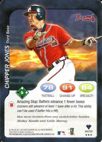 2011 Topps Attax #49 ~ Chipper Jones