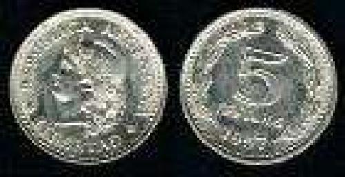 5 Centavos; Year: 1957-1959; (km 53); Copper-Nickel-Clad-Steel; LIBERTAD