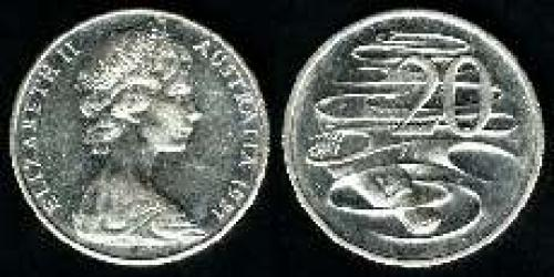 20 cents; Year: 1966-1998; (km 66)