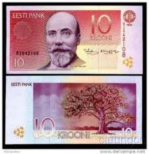 Banknotes; 10 Krooni; Banknotes  Estonia