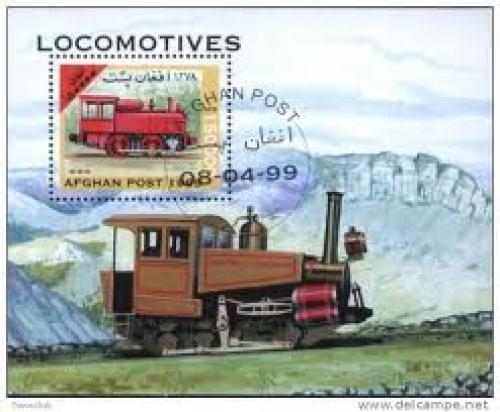 Postcard; Afghanistan 1999 Railway, Train Used Cancelled