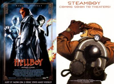 Hellboy & Steamboy movie 4x6 promo card