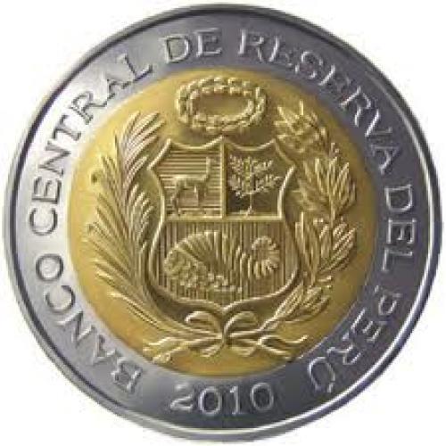 Coins;  2 Nuevos Soles - Peruvian Coin