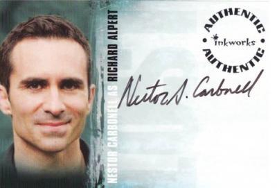 Nestor Carbonell (Richard Alpert) LOST certified autograph card