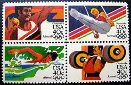 Stamps; USA olympic ; Year: 1984 stamp