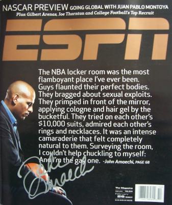 John Amaechi autographed 2007 ESPN The Magazine