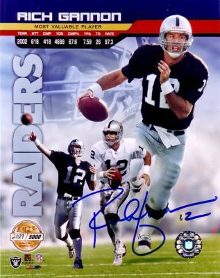 Rich Gannon autographed 8x10 Oakland Raiders photo