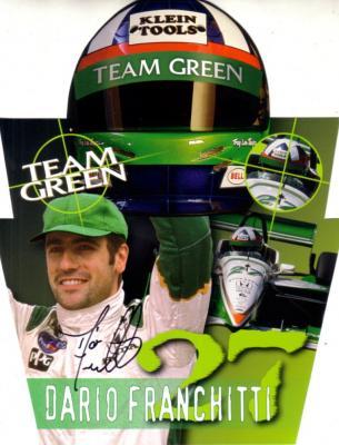Dario Franchitti autographed 2000 Team Green photo card