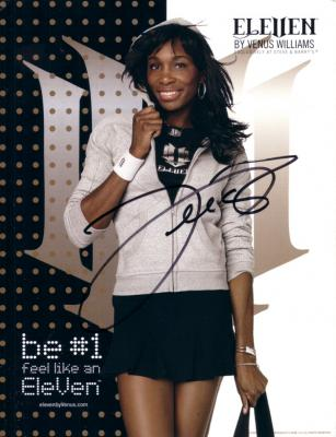 Venus Williams autographed Eleven promotional photo