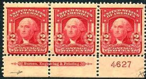 Stamps; US stamp 1903 2c Washington