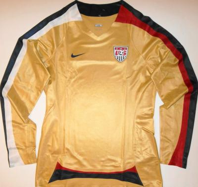 US Soccer 2007 Women's World Cup gold long sleeve Nike jersey NEW