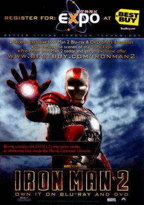 Iron Man 2 DVD 2010 Comic-Con 5x7 promo card