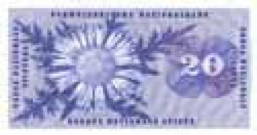 20 Swiss francs; Older banknotes (before 1975)