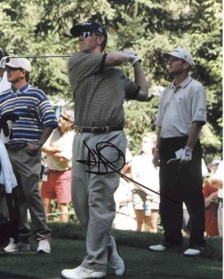 David Duval autographed 8x10 golf photo