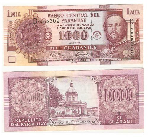 Banknotes from Paraguay