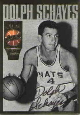 Dolph Schayes certified autograph 1994 Action Packed Hall of Fame card