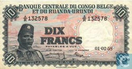Belgian Congo 10 Francs