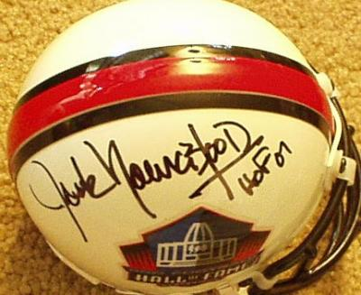 Jack Youngblood autographed Hall of Fame authentic mini helmet