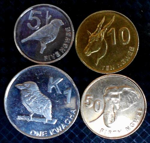 Zambia 5, 10, 50 ngwee and 1 kwacha 2012. 4 Coins set,