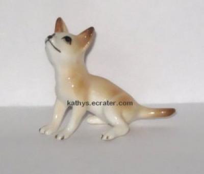 Miniature Porcelain Chihuahua Dog Animal Figurine