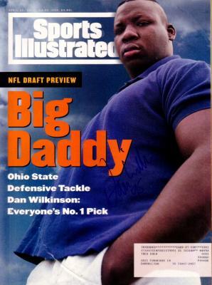 Dan Wilkinson (Ohio State) autographed 1994 Sports Illustrated