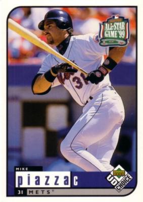 Mike Piazza 1999 Upper Deck All-Star Game jumbo card