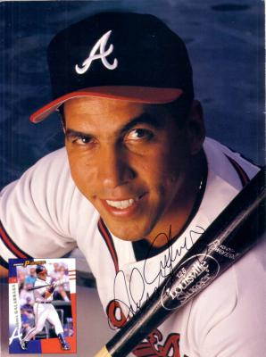Andres Galarraga autographed Braves Beckett back cover photo
