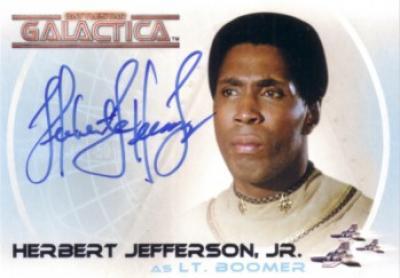 Herbert Jefferson Jr. (Boomer) Battlestar Galactica certified autograph card