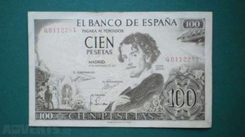 Spain -100 pesetas-1965/70