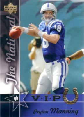 Peyton Manning 2005 Upper Deck National Convention VIP promo card