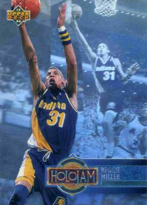 Reggie Miller Pacers 1993-94 Upper Deck Holojam hologram card