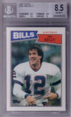 Jim Kelly 1987 Topps Rookie Card BGS 8.5 NrMt-Mt+