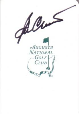 Ben Crenshaw autographed Augusta National Masters scorecard