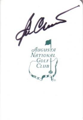 Ben Crenshaw autographed Augusta National Masters scorecard