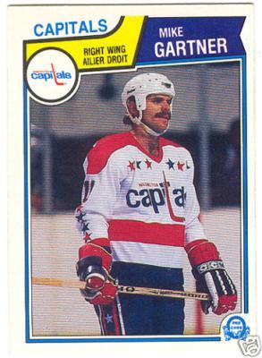 Mike Gartner Washington Capitals 1983-84 OPC card #369